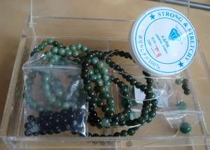 Jade necklaces and strech thread